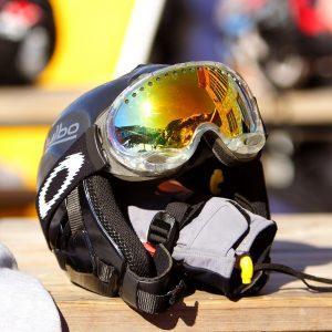 Ski Helmet And Goggles