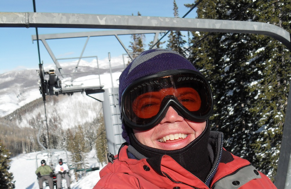 A Man Wearing Ski Goggles
