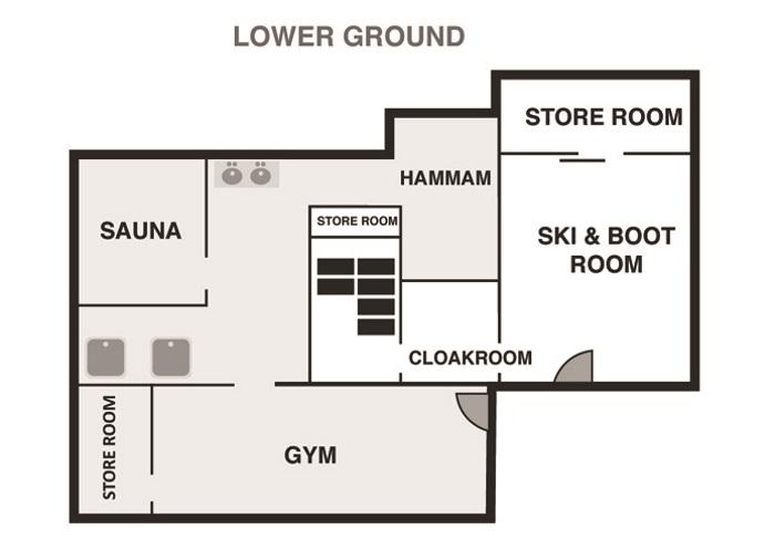 1 - Chalet Ardoise in Chamonix - Lower Ground Floor