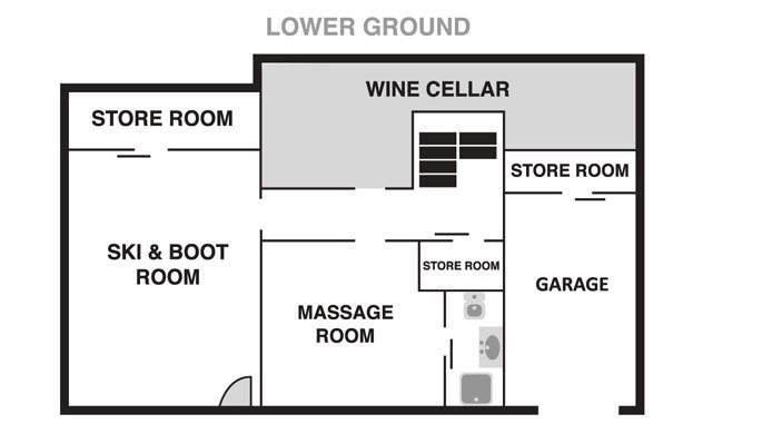 1 - Chalet Granit in Chamonix - Lower Ground Floor