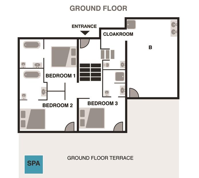 2 - Chalet Ardoise in Chamonix - Ground Floor