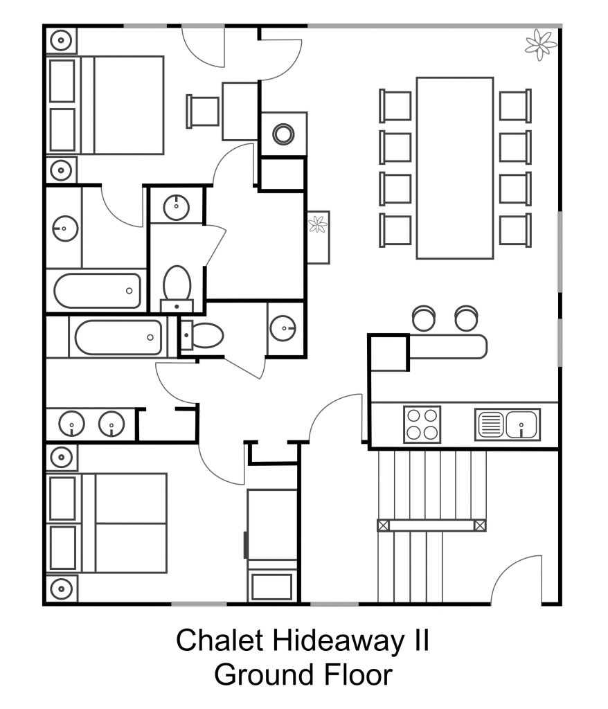 2 - Chalet Hideaway II in Chamonix - Ground floor - Appartment 1 (1)
