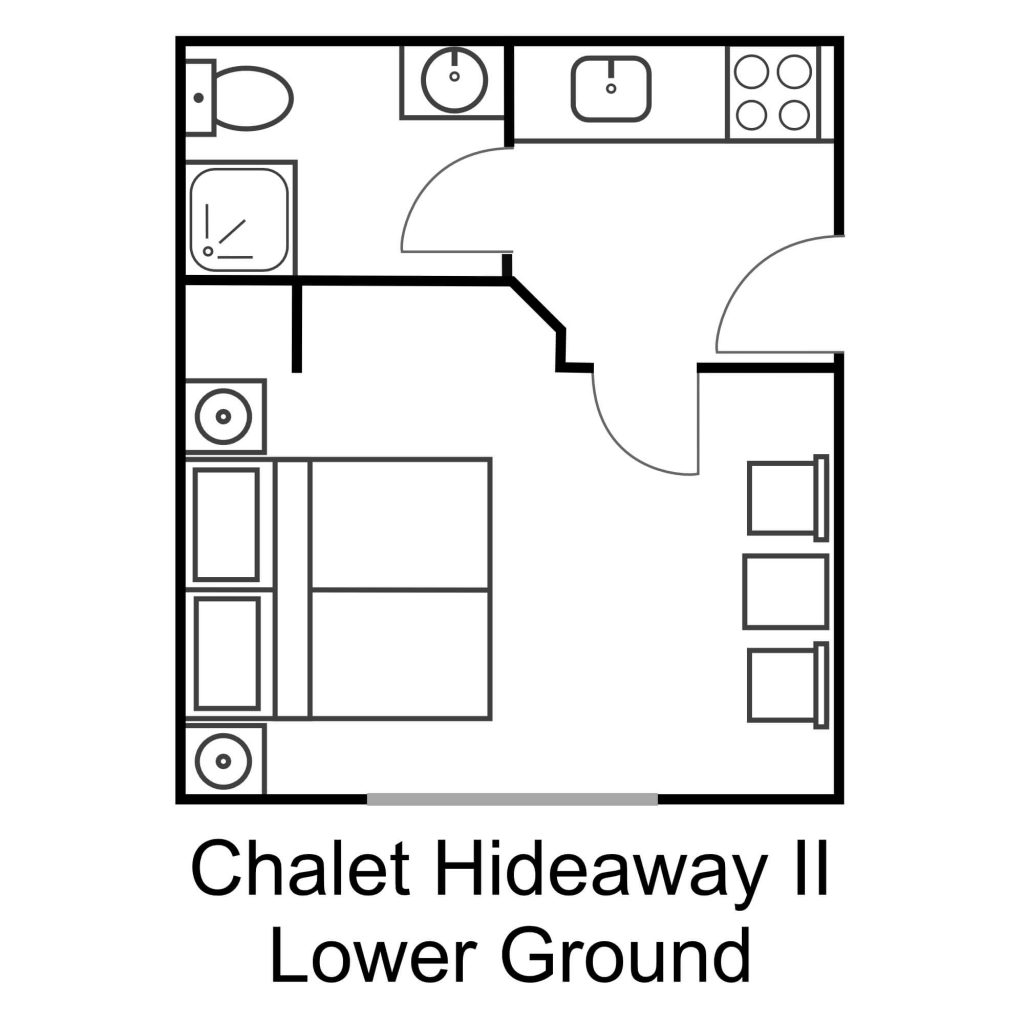 3 - Chalet Hideaway II in Chamonix - Lower Ground Floor - Studio (1)