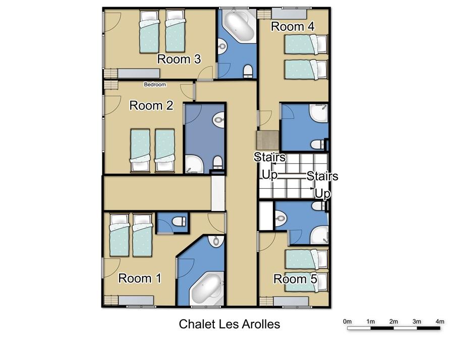 Chalet Les Arolles in Tignes Ground Floor
